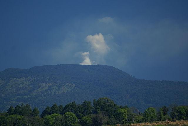volcan Poas Costa Rica fumée