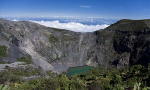 volcan irazu vosta rica voyage lac bleu couleur