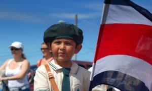 indépendance du costa rica voyage enfant drapeau fête